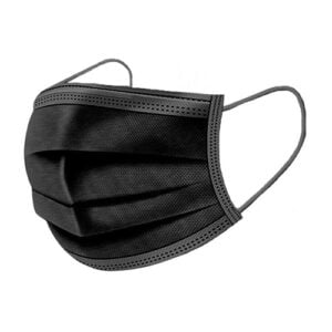 black disposable face masks individually wrapped