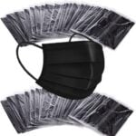 disposable black face masks – indvidually wrapped